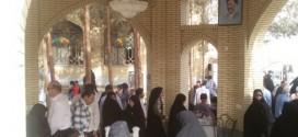 قرائت فاتحه بر تربت مرحوم یحیی زاده(ره) در روز عید فطر+ تصاویر